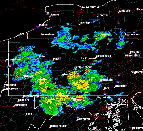Radar Image for Severe Thunderstorms near Wagner, PA at 5/3/2019 7:09 PM EDT