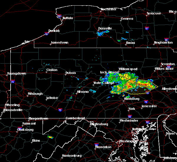 Radar Image for Severe Thunderstorms near Tower City, PA at 6/11/2015 8:44 PM EDT