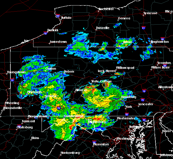 Radar Image for Severe Thunderstorms near Petersburg, PA at 5/3/2019 7:18 PM EDT