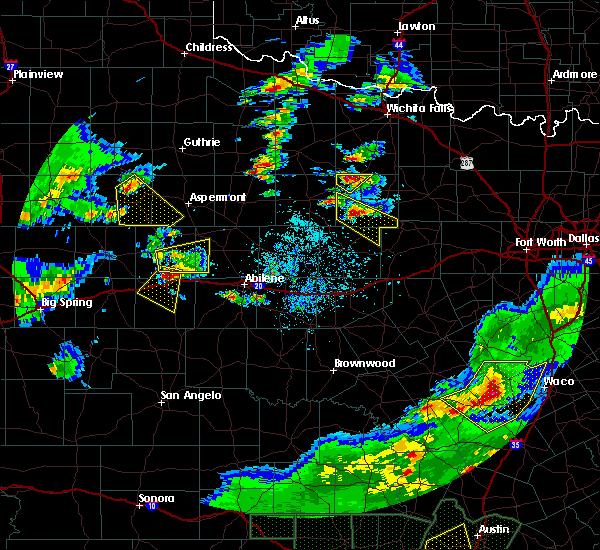 Radar Image for Severe Thunderstorms near Olney, TX at 5/3/2019 7:10 PM CDT