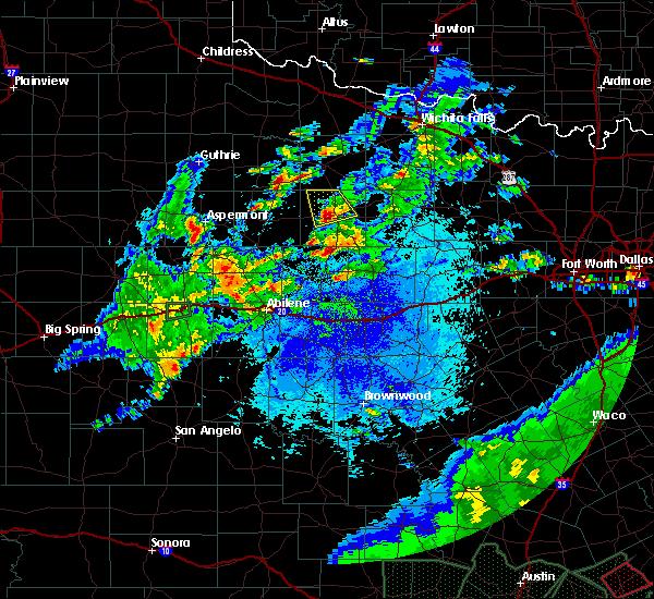 Radar Image for Severe Thunderstorms near Throckmorton, TX at 5/3/2019 9:19 PM CDT
