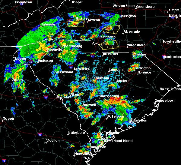 Radar Image for Severe Thunderstorms near Eutawville, SC at 5/4/2019 4:17 PM EDT