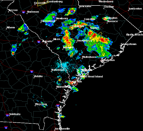 Radar Image for Severe Thunderstorms near Savannah, GA at 5/4/2019 4:54 PM EDT