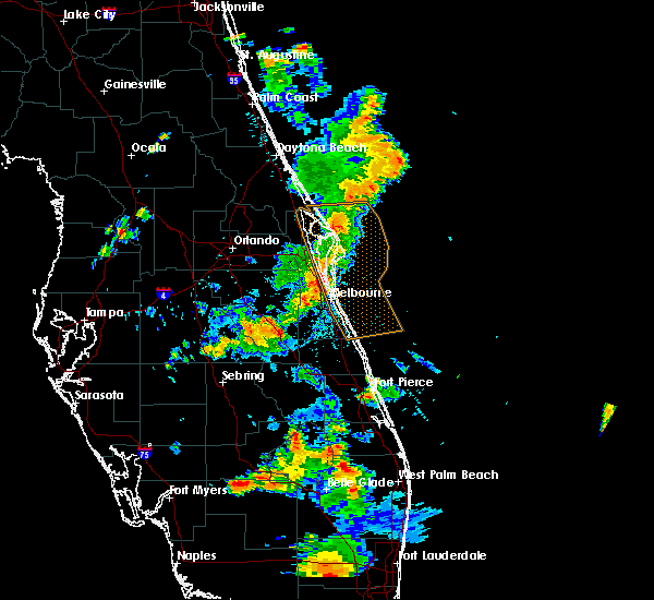 Radar Image for Severe Thunderstorms near Cocoa West, FL at 5/4/2019 5:36 PM EDT
