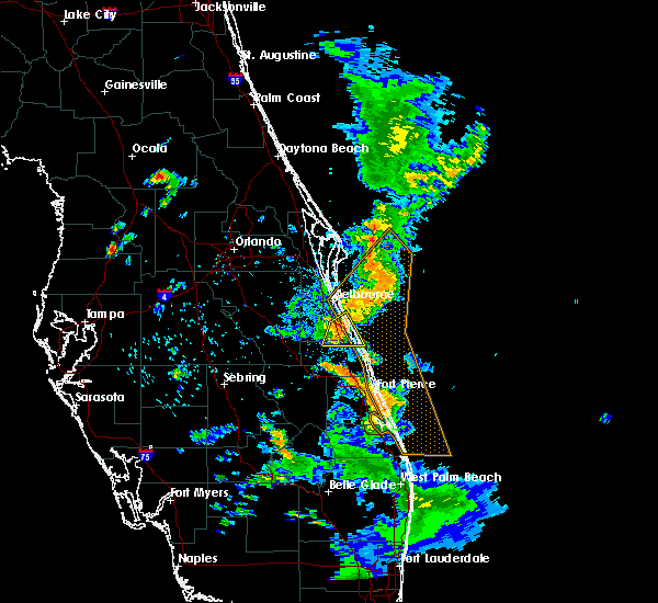 Radar Image for Severe Thunderstorms near Malabar, FL at 5/4/2019 6:37 PM EDT