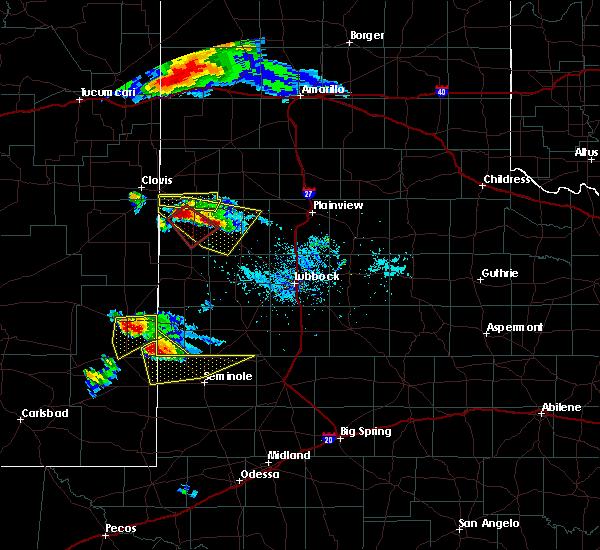 Radar Image for Severe Thunderstorms near Denver City, TX at 5/4/2019 7:22 PM CDT