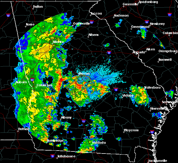 Radar Image for Severe Thunderstorms near Jeffersonville, GA at 5/4/2019 8:48 PM EDT