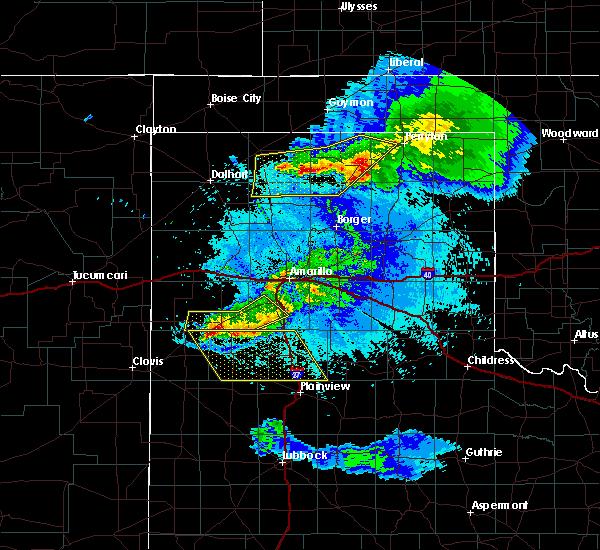 Radar Image for Severe Thunderstorms near Dimmitt, TX at 5/4/2019 9:27 PM CDT