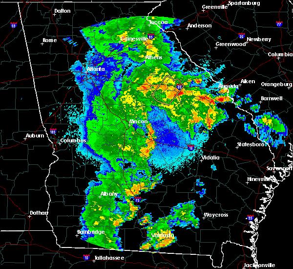 Radar Image for Severe Thunderstorms near White Plains, GA at 5/4/2019 10:34 PM EDT