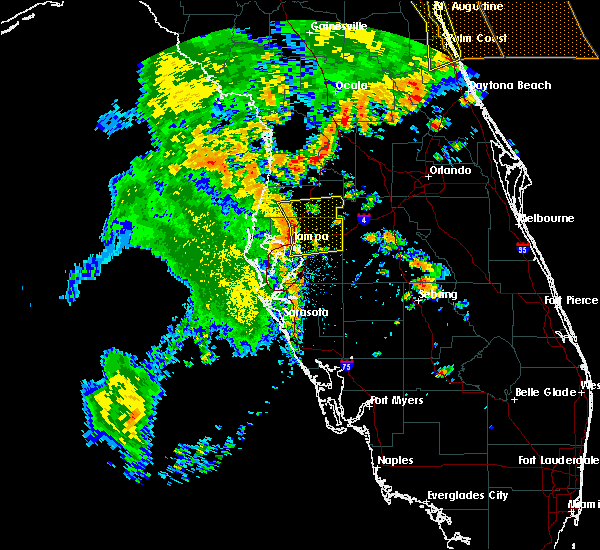 Radar Image for Severe Thunderstorms near St. Leo, FL at 5/5/2019 1:08 PM EDT