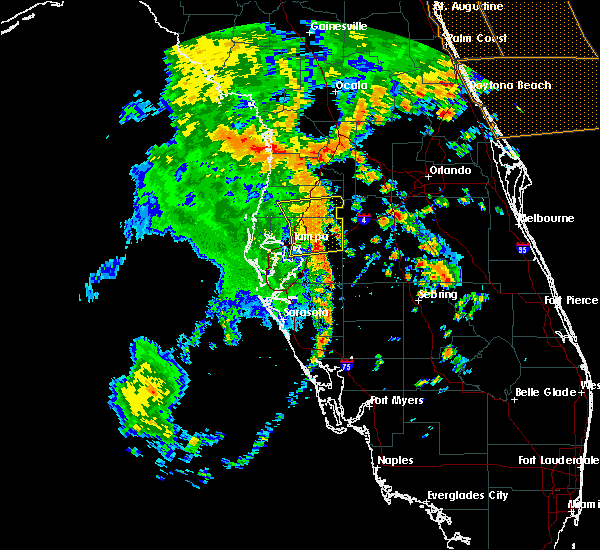 Radar Image for Severe Thunderstorms near Tampa, FL at 5/5/2019 1:31 PM EDT