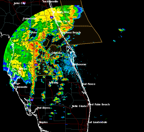 Radar Image for Severe Thunderstorms near Azalea Park, FL at 5/5/2019 2:03 PM EDT