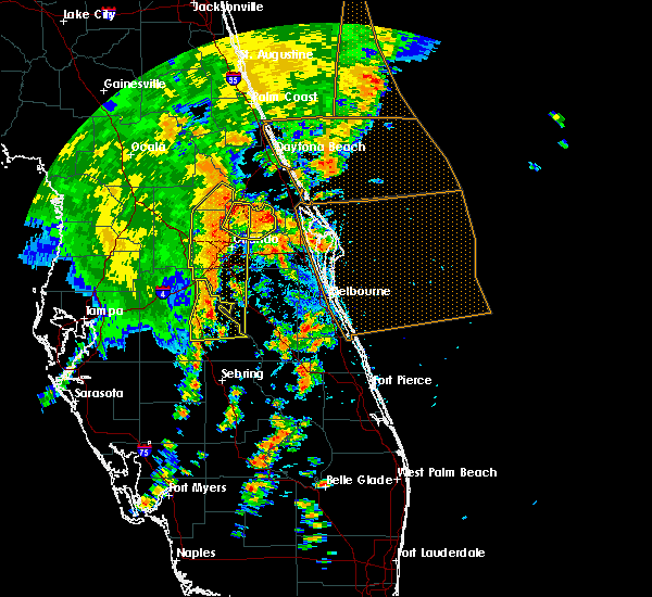 Radar Image for Severe Thunderstorms near South Daytona, FL at 5/5/2019 2:36 PM EDT