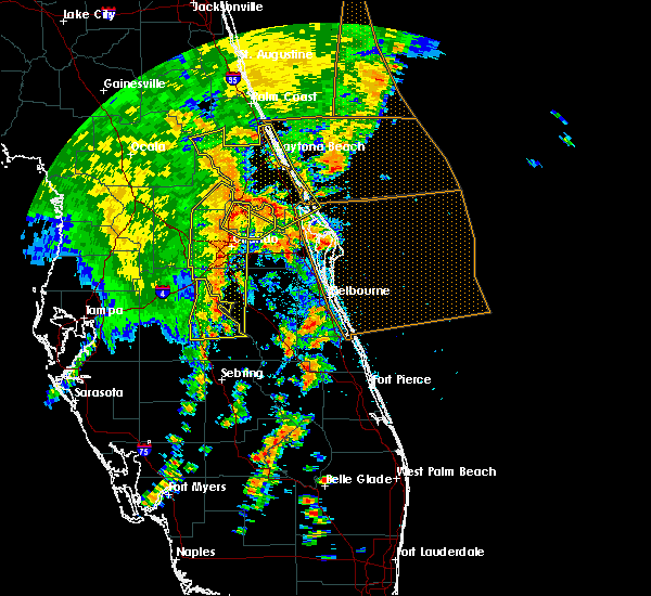 Radar Image for Severe Thunderstorms near Mims, FL at 5/5/2019 2:42 PM EDT