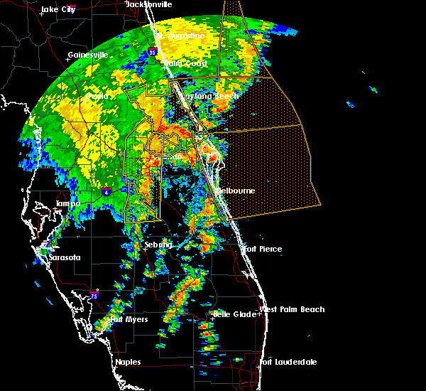 Radar Image for Severe Thunderstorms near Malabar, FL at 5/5/2019 2:45 PM EDT