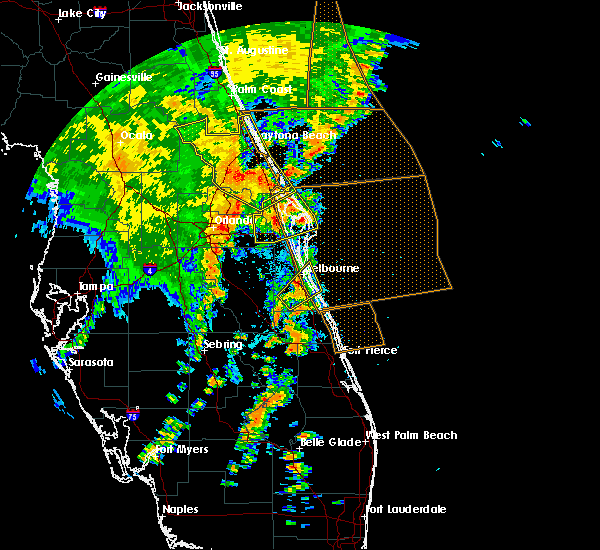 Radar Image for Severe Thunderstorms near Daytona Beach, FL at 5/5/2019 2:52 PM EDT