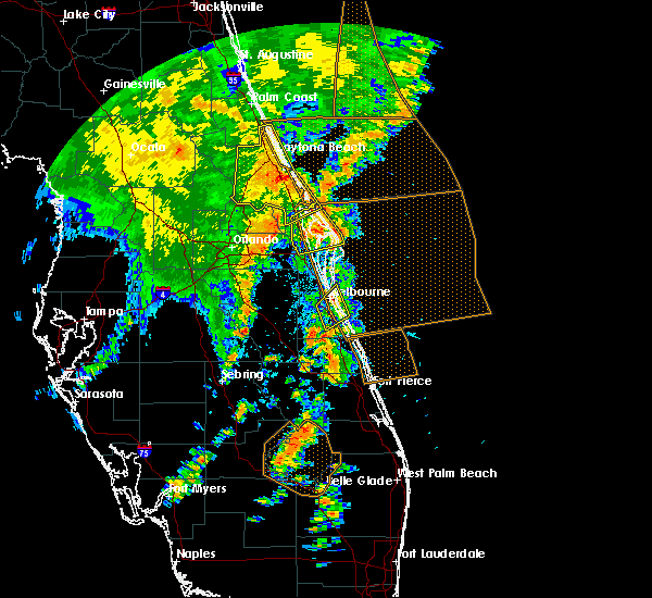 Radar Image for Severe Thunderstorms near Mims, FL at 5/5/2019 3:04 PM EDT