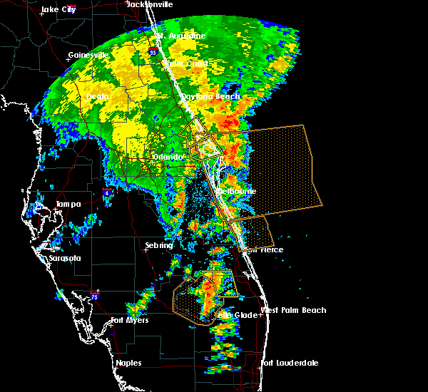 Radar Image for Severe Thunderstorms near Mims, FL at 5/5/2019 3:26 PM EDT