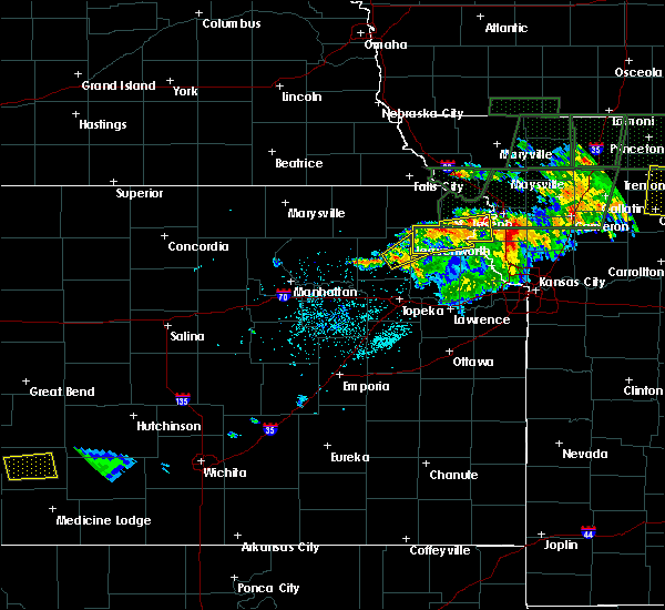 Radar Image for Severe Thunderstorms near Huron, KS at 6/11/2015 8:57 PM CDT