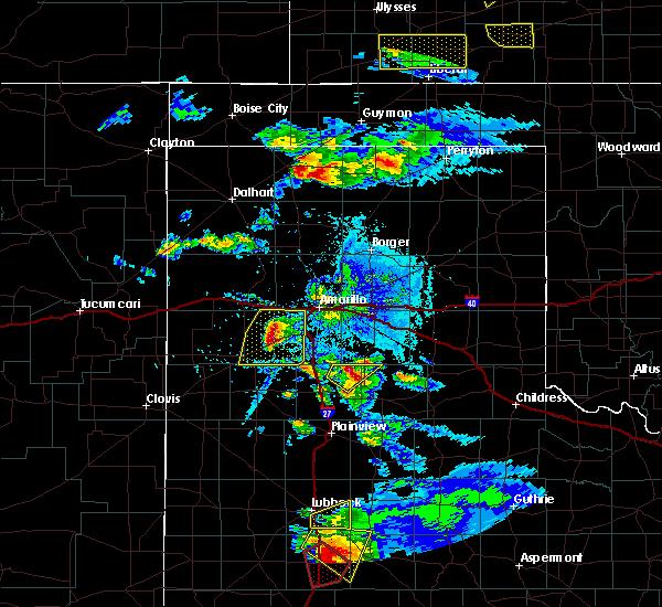 Radar Image for Severe Thunderstorms near Howardwick, TX at 5/5/2019 6:10 PM CDT