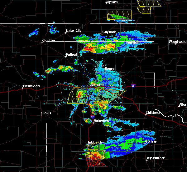 Radar Image for Severe Thunderstorms near Amarillo, TX at 5/5/2019 6:17 PM CDT