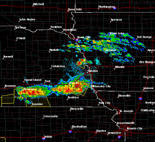 Radar Image for Severe Thunderstorms near Woodland Hills, NE at 5/5/2019 6:34 PM CDT