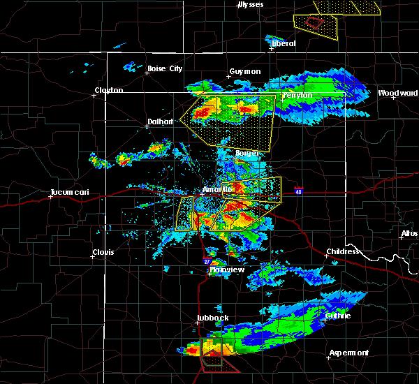 Radar Image for Severe Thunderstorms near Howardwick, TX at 5/5/2019 6:40 PM CDT