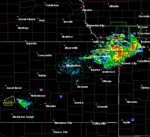 Radar Image for Severe Thunderstorms near Huron, KS at 6/11/2015 9:14 PM CDT