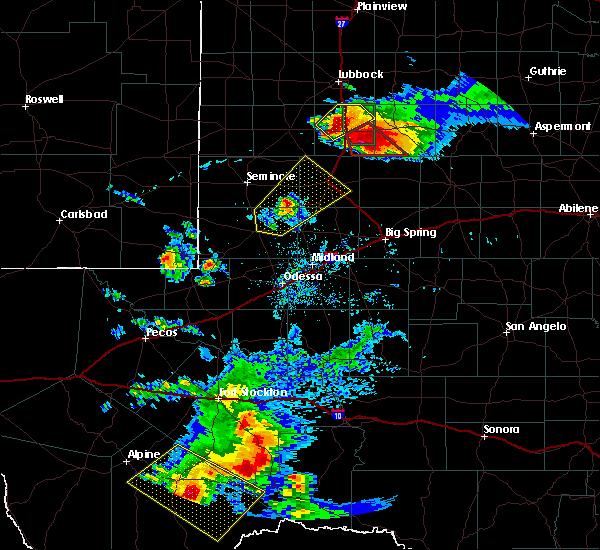 Radar Image for Severe Thunderstorms near Sanderson, TX at 5/5/2019 7:03 PM CDT