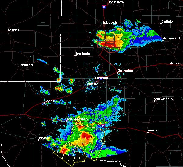 Radar Image for Severe Thunderstorms near Sanderson, TX at 5/5/2019 7:35 PM CDT