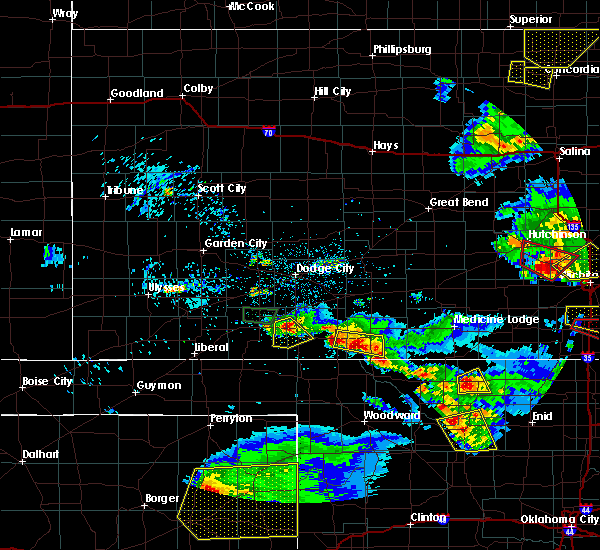 Radar Image for Severe Thunderstorms near Protection, KS at 5/5/2019 8:50 PM CDT