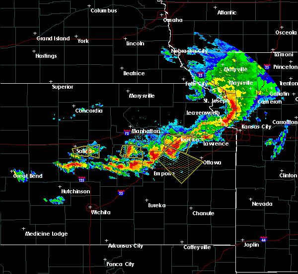 Radar Image for Severe Thunderstorms near Gypsum, KS at 5/6/2019 7:04 PM CDT
