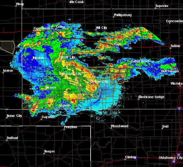 Radar Image for Severe Thunderstorms near Hooker, OK at 5/6/2019 10:26 PM CDT
