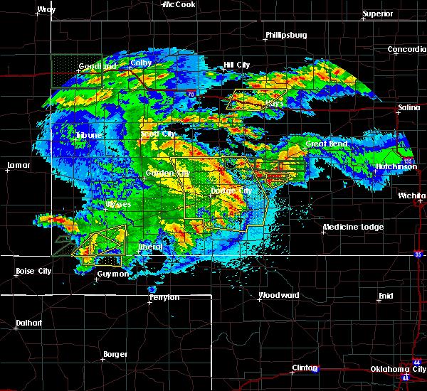 Radar Image for Severe Thunderstorms near Hooker, OK at 5/6/2019 10:41 PM CDT