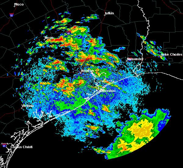 Radar Image for Severe Thunderstorms near Houston, TX at 5/7/2019 2:15 PM CDT