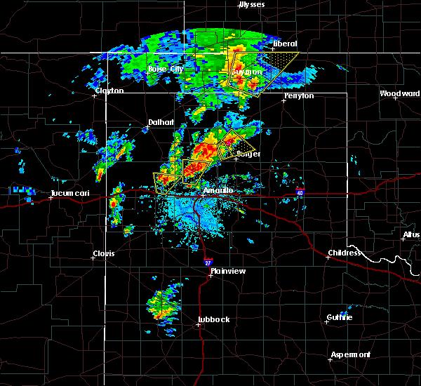 Radar Image for Severe Thunderstorms near Stinnett, TX at 5/7/2019 2:41 PM CDT