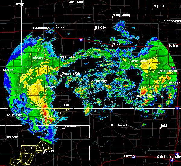 Radar Image for Severe Thunderstorms near Hooker, OK at 5/7/2019 2:46 PM CDT