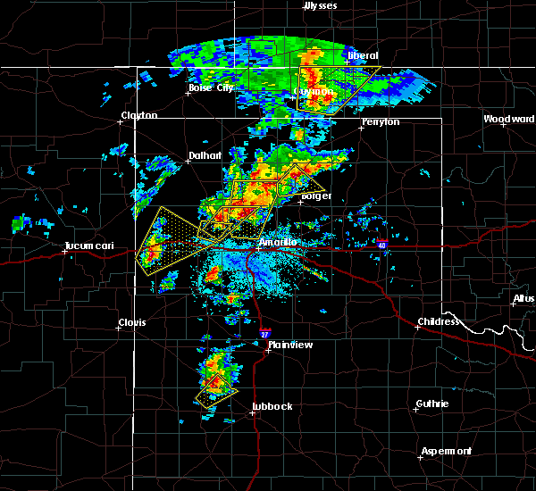 Radar Image for Severe Thunderstorms near Stinnett, TX at 5/7/2019 2:58 PM CDT
