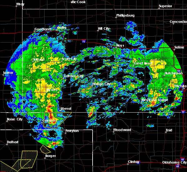 Radar Image for Severe Thunderstorms near Hooker, OK at 5/7/2019 3:06 PM CDT