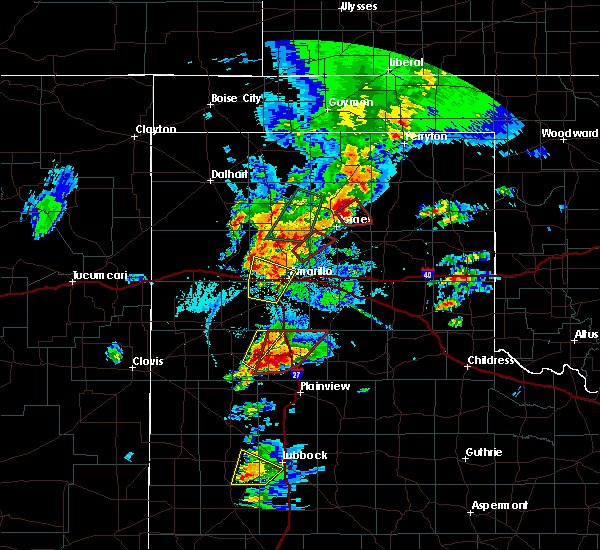 Radar Image for Severe Thunderstorms near Happy, TX at 5/7/2019 5:09 PM CDT