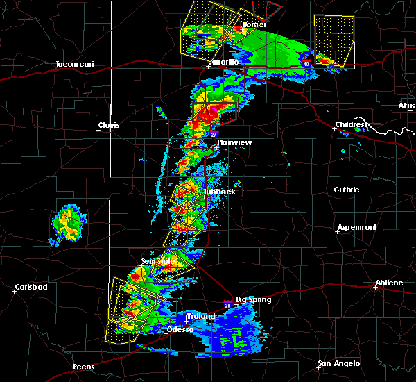 Radar Image for Severe Thunderstorms near Brownfield, TX at 5/7/2019 5:48 PM CDT
