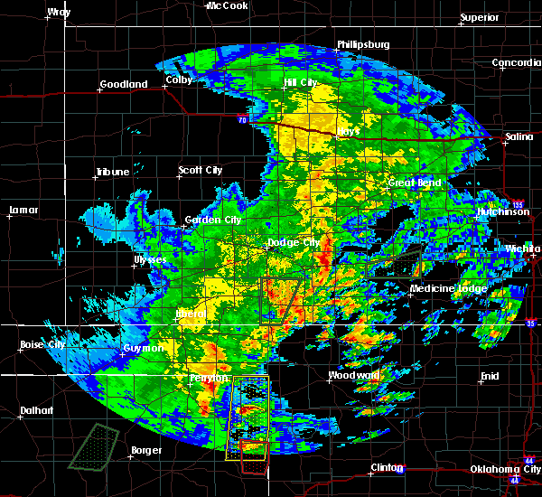 Radar Image for Severe Thunderstorms near Follett, TX at 5/7/2019 6:45 PM CDT