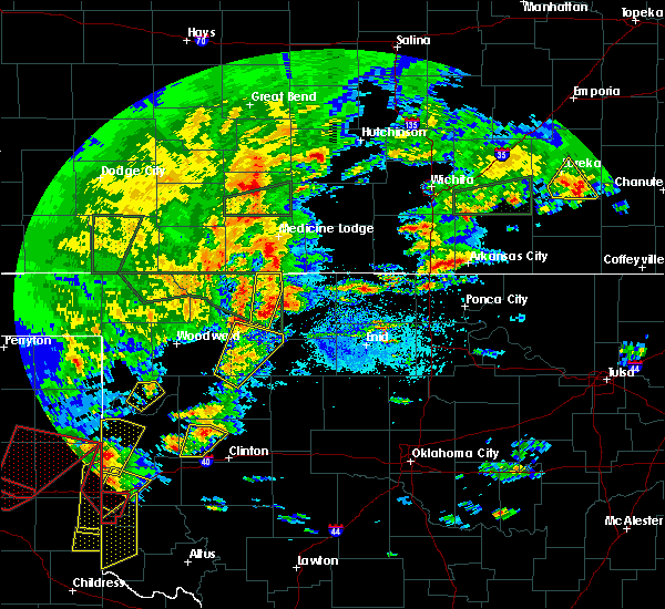 Radar Image for Severe Thunderstorms near Mutual, OK at 5/7/2019 8:16 PM CDT