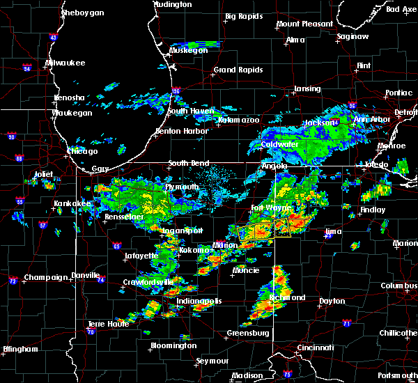 Radar Image for Severe Thunderstorms near Decatur, IN at 6/12/2015 12:52 PM EDT