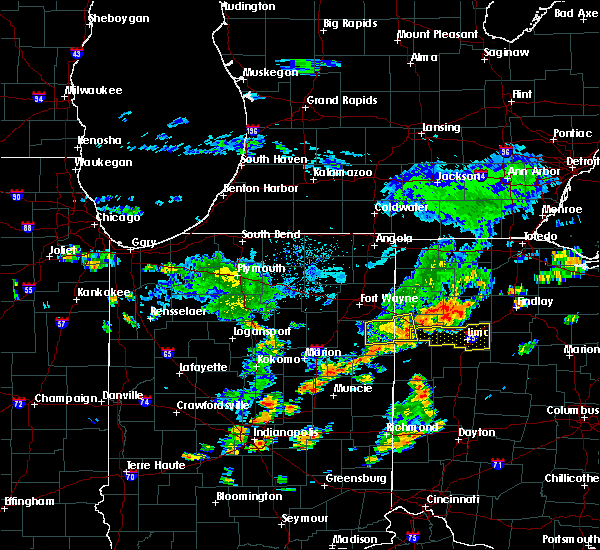 Radar Image for Severe Thunderstorms near Bluffton, OH at 6/12/2015 1:09 PM EDT