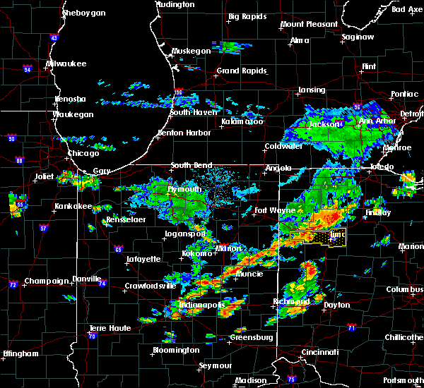 Radar Image for Severe Thunderstorms near Lima, OH at 6/12/2015 1:27 PM EDT