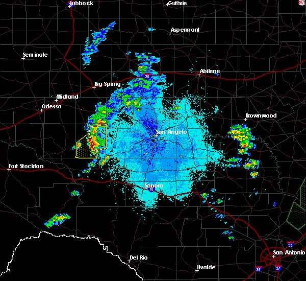 Radar Image for Severe Thunderstorms near Big Lake, TX at 5/7/2019 9:54 PM CDT
