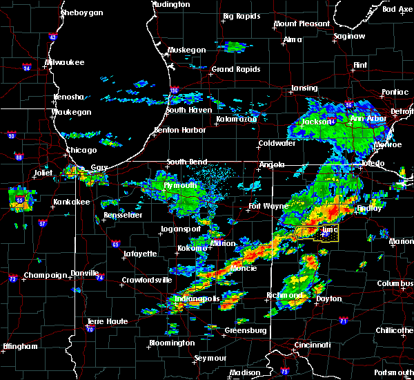 Radar Image for Severe Thunderstorms near Lima, OH at 6/12/2015 1:36 PM EDT