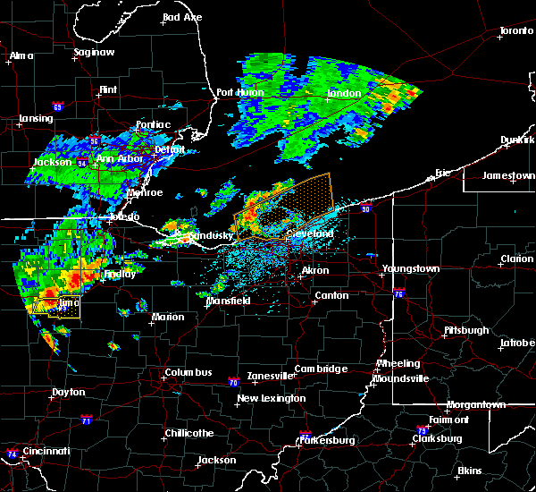 Radar Image for Severe Thunderstorms near New Riegel, OH at 6/12/2015 1:42 PM EDT