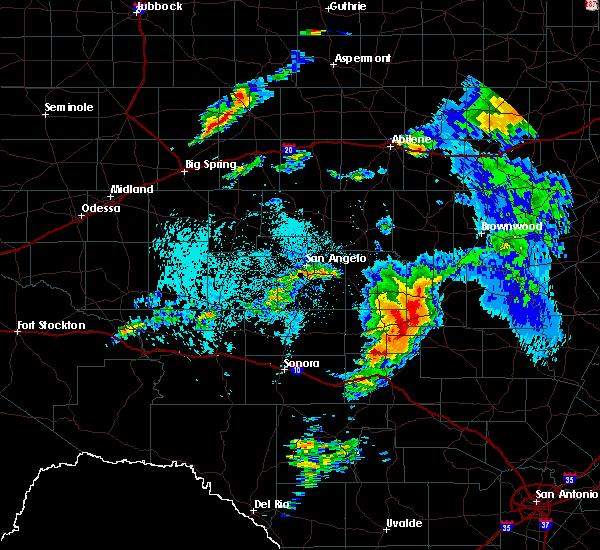 Radar Image for Severe Thunderstorms near Brady, TX at 5/8/2019 2:54 AM CDT